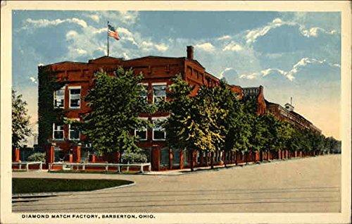 Diamond Match Factory Barberton, Ohio Original Vintage Postcard