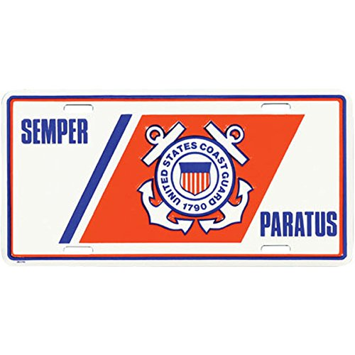- Mitchell Proffitt U.S. Coast Guard Logo Semper Paratus License Plate