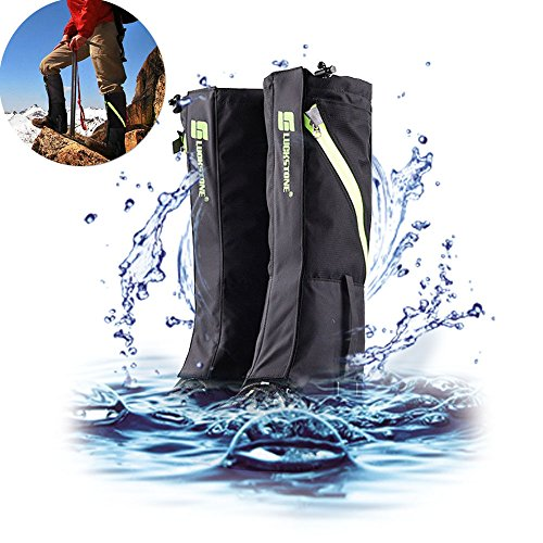 Hiking Legingg Gaiters,AYAMAYA Breathable Waterproof High Boots Shoes Cover Leg Protection Guard, Anti Dust/Mud/Debris/Rock/Bush Snow Gaiters Gator Gaitor For Hunting Trimming Grass Trail Running