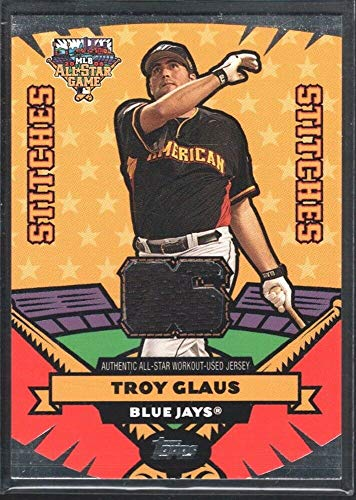 BIGBOYD SPORTS CARDS Troy GLAUS 2006 Topps All Star Stitches #ASTEG Game Jersey Toronto Blue Jays SP ()