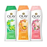 Olay Body Wash, Champagne Mango/White Ginger/Lime White Tea/Strawberry/Mint, 3 Pack