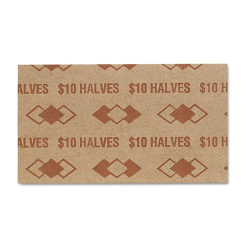 PM SecurIT $10 Half-dollars Coin Wrapper - 1000 Wrap(s) - Sturdy - Kraft - - Pm Wrap Company Coin
