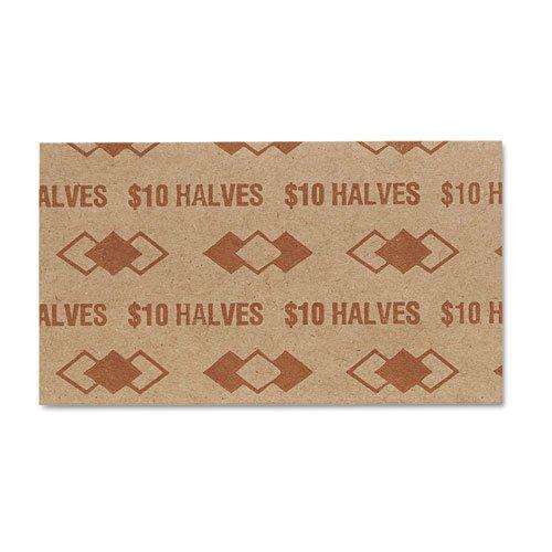 PM SecurIT $10 Half-dollars Coin Wrapper - 1000 Wrap(s) - Sturdy - Kraft - Buff