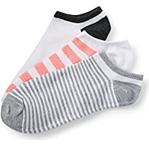 Aeropostale 3-Pack Neon Stripe, Thin Stripe & Colorblock Ankle Socks