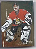 RON TUGNUTT 1998-99 Be A Player #244 BAP GOLD PARALLEL AUTOGRAPH Card Ottawa Senators Hockey
