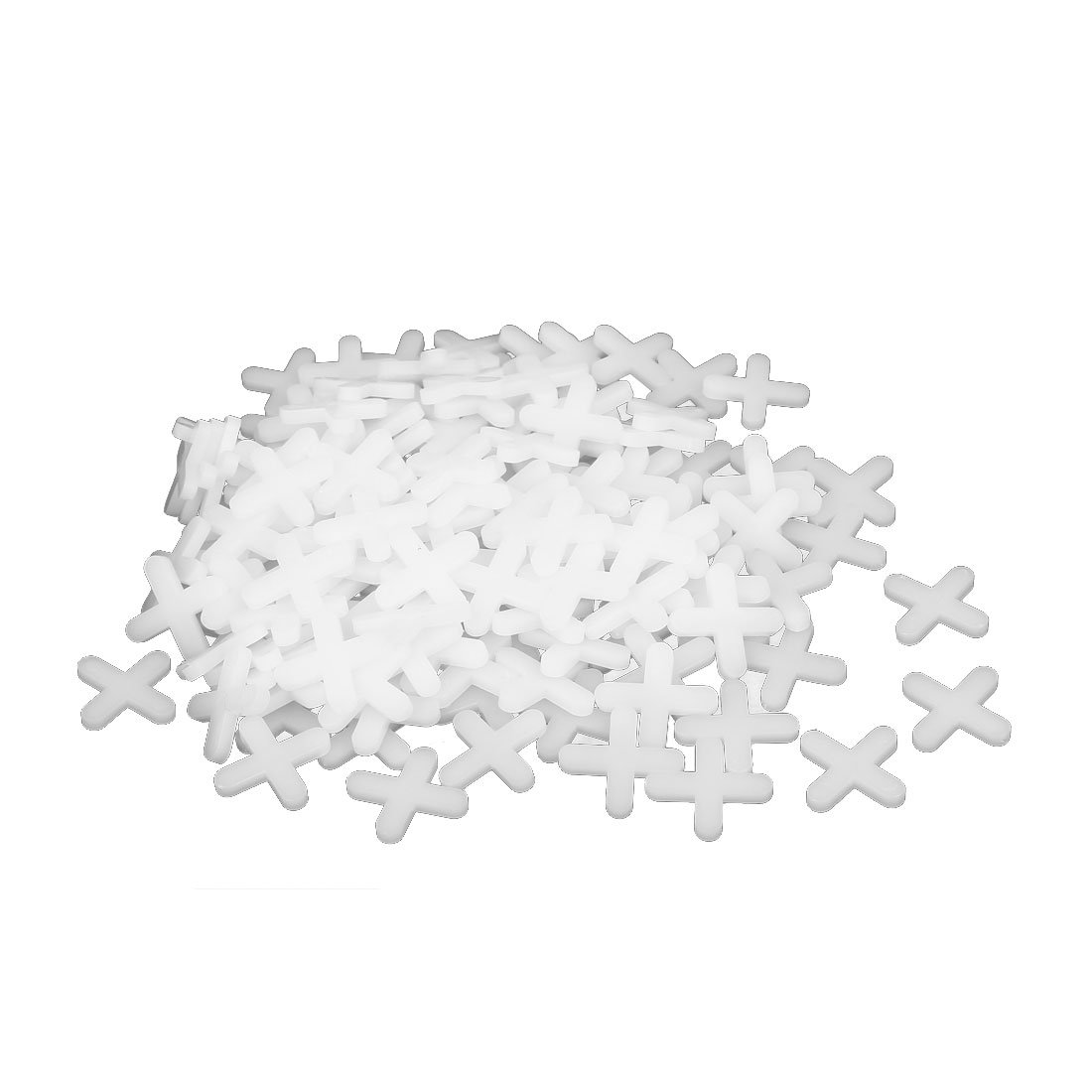 uxcellWall Floor Tile Plastic Cross Spacer 5mm White 200pcs