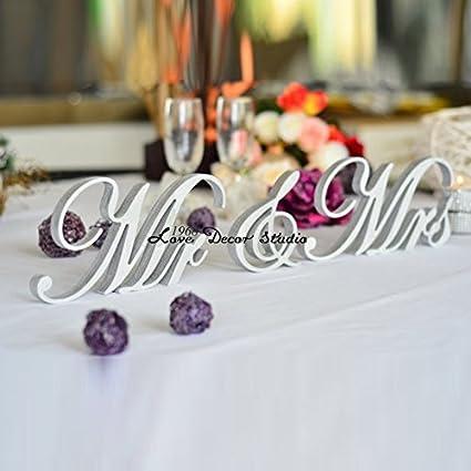 Amazon.com: Love Decor Studio _ 1968 Glitter 7 inches tall Mr. & Mrs ...