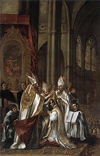 Oil Painting 'Valdes Leal Juan De La Consagracion De San Ambrosio Como Arzobispo Ca. 1673', 10 x 16 inch / 25 x 40 cm , on High Definition HD canvas (Lime Wedge Adult Costumes)