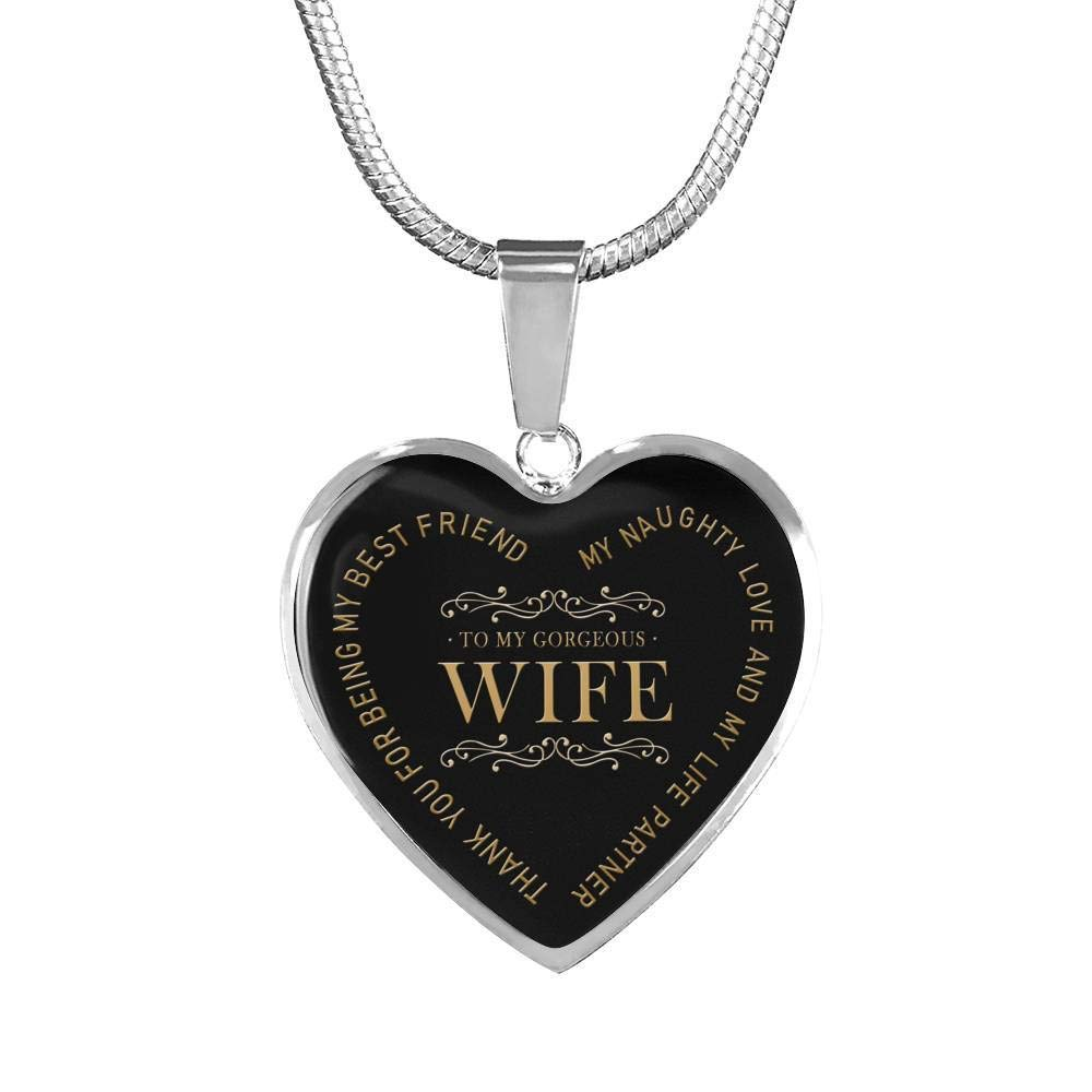 Wife Thank You for Being My Friend Quotes Heart Pendant Necklace for Wifes Girlfriend Fiancee