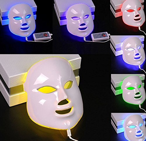 NEWEST LED Photon Therapy 7 Colors ( Red Blue Green )Light Treatment Facial Beauty Skin Care Rejuvenation Pototherapy Mask PDT Beauty Face Care for Home by Angel Kiss (Image #3)