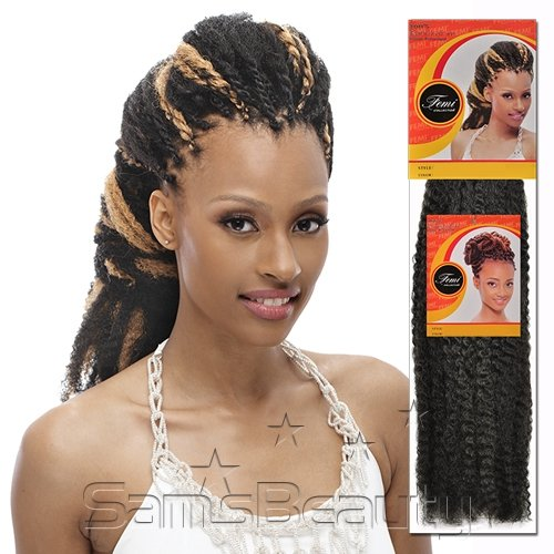 Femi Collection Marley / Kinky Twist Braid Flame Retardant PACK OF 4PCS (#1B)