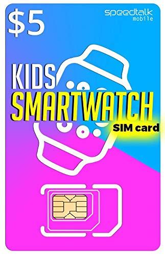 Smart Watch - 3 in 1 SIM Card GSM 2G 3G 4G LTE - Kids Smartwatches Wearables - 30 Day Service ()