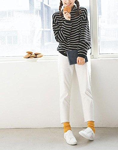 di Tela Scarpe bianco Bianche Casual con Ginnastica Piccole Studente Fondo Femminile di Piatto Moda Espadrillas Koyi da Scarpe Scarpe Ed5qE