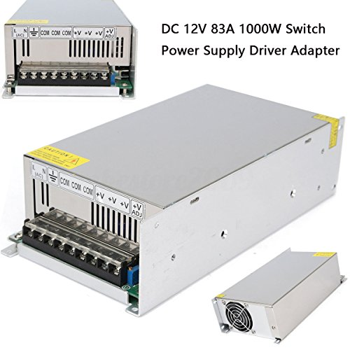 12V 83A 1000W Universal Regulated Switching Power Supply Driver for CCTV camera LED Strip AC 100-240V Input to DC 12V