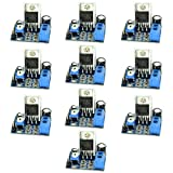 Optimus Electric 10pcs TDA2030 Chip Audio Amplifier Module Board with 18W Output, 10K Potentiometer Volume Adjustment and Power Indicator from