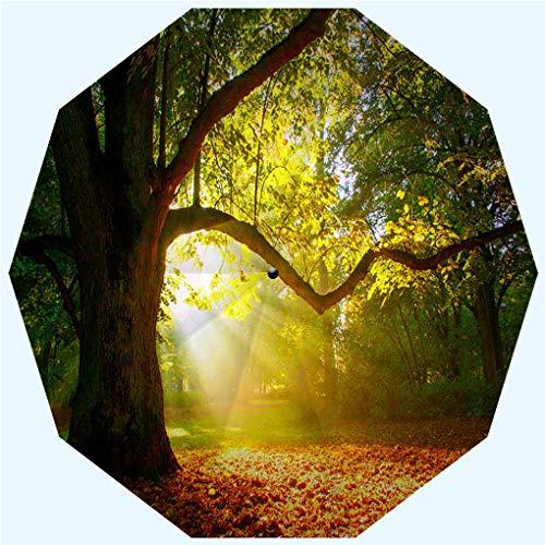 (Fashion Travel Umbrella Sun Umbrella UV protection automatic opening and closing, Mighty oak tree, windproof - rainproof - men - ladies - versatile - 42 inches)