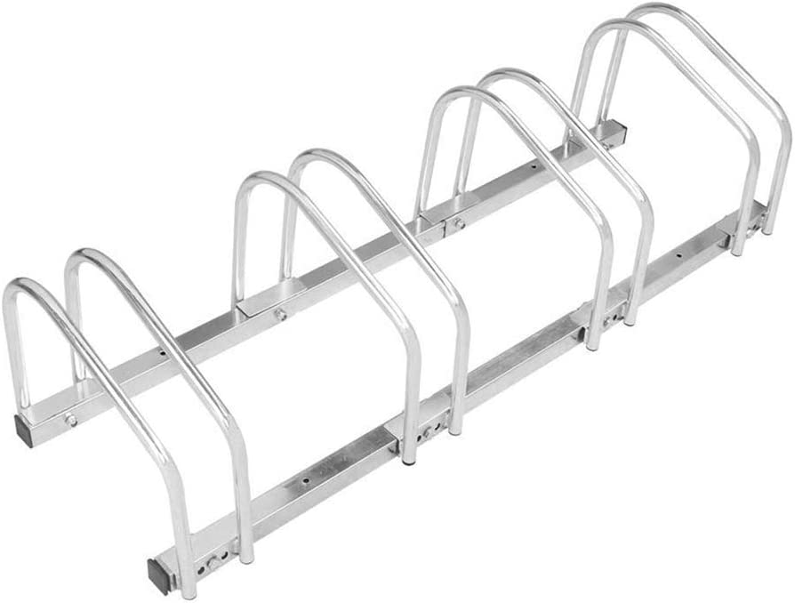 Houseware 4 Bike Bicycle Floor Parking Bicycle Rack Cycling Rack Parking Garage Storage Organizer for Indoor and Outdoor Using