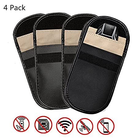 Car Key Signal Blocker Case, VSOAIR Keyless Entry Fob Guard Signal Blocking Pouch Bag,Antitheft Lock Devices, Cell Phone Privacy Protection Security for WiFi GSM LTE NFC RFID (2 Pack)