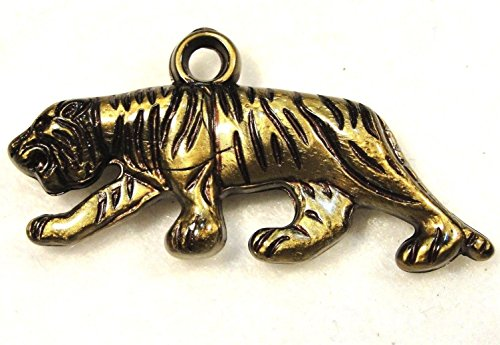 (10Pcs. Tibetan Antique Bronze Tiger Acrylic Charms Pendants Earring Drops AN189 Crafting Key Chain Bracelet Necklace Jewelry Accessories Pendants)