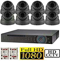 USG 1080p HD-SDI 16 Channel Kit: 1x 16 Ch DVR + 8x 2.8-12mm 1080P Dome Cameras + 1x 4TB HDD *** High Definition CCTV Video Surveillance