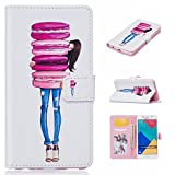 Uming® Print Pattern Colorful Holster Cover Case ( Macaron girl - for Samsung Galaxy S5 I9600 S5Neo ) Artificial-leather Flip with Bracket Stander Holder Credit Card Slot Wallet Hasp Magnet Button Shell Protective Mobile Cellphone Cover Bag