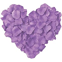 Neo LOONS 1000 Pcs Artificial Silk Rose Petals Decoration Wedding Party Color Light Lavender