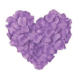 Neo LOONS 1000 Pcs Artificial Silk Rose Petals Decoration Wedding Party Color Light Lavender 44