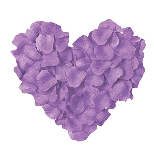 Neo LOONS 1000 Pcs Artificial Silk Rose Petals Decoration Wedding Party Color Light Lavender Lavender Flower Petals