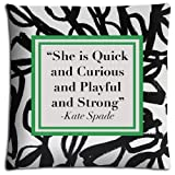 img - for 16x16 inch 40x40 cm cushion pillow cover case Cotton + Polyester Elegant attractive kate spade book / textbook / text book
