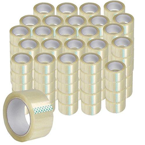Jago Paketklebeband Klebeband Packband ca. 66 m transparent für schierige Oberflächen geeignet, einseitig klebend im 1er-/6er-/12er-/36er-/120er-Set