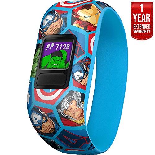 Garmin Vivofit jr. 2 - Stretchy Adjustable Activity Tracker for Kids Avengers