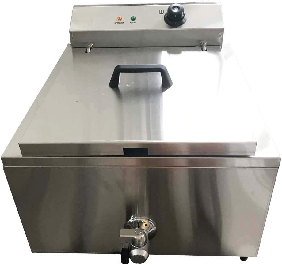 TECHTONGDA Commerical Funnel Cake Deep Fryer Frying Machine with 2 Ring Molds