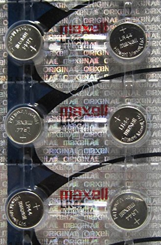 6 Pack MAXELL AG13 LR44 A76 357 Alkaline Button Cell Batteries 1.5 Volt Alkaline  (Maxell Alkaline Button)