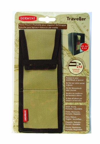 Derwent Traveller Canvas Pencil Pouch / Case / Holder, 12 Pencil Capacity, for Sketchbooks (2302156)