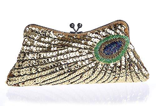 Per Le Diagonali Oro Mini Da Clutch Signore Wjp Catenelle rosso Sera Spose Borse Cheongsam centimetro Borsa Spalle Banchetti Bag RXfw48
