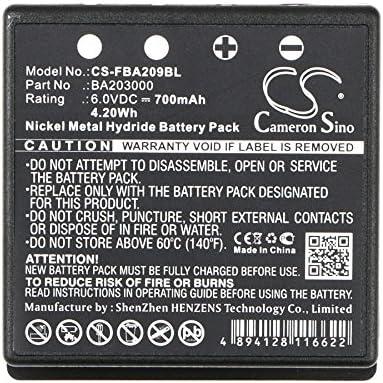 Batterie HBC Radiomatic FUB 9NM 6V FUB9NM Micron 6 Technos Eco 700mAh