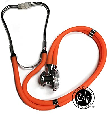 "EMI 22"" Orange Sprague Rappaport-type Stethoscope #112"