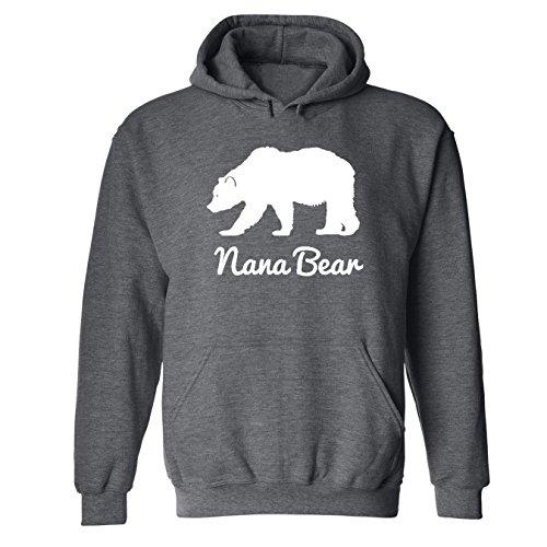 (Mashed Clothing Nana Bear Adult Hooded Sweatshirt (Dark Heather Grey, 2XL))