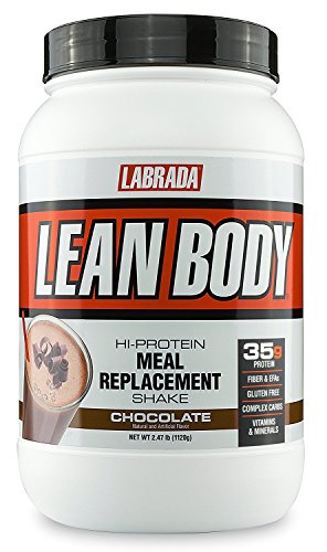 LABRADA Nutrition - Lean Body High Protein Meal Replacement Shake, Whey Protein Powder for Weight Loss and Muscle Growth, Chocolate, 2.47LB Tub