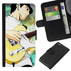 KingStore / Leather Etui en cuir / Apple Iphone 5C / Guitarra