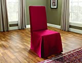 Sure Fit Duck Solid - Dining Room Chair Slipcover - Claret (SF33880)