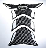 Carbon Fiber Motorcycle Tank Protector Pad for Triumph