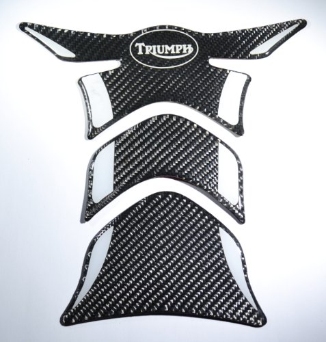 Carbon Fiber Motorcycle Tank Protector Pad for (Triumph Motorcycle Parts)