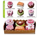 Bee Smart — Wooden Toy - Tea Party Wooden Cakes Pretend Play Food With Selection Card and Sturdy Cardboard Serving Tray