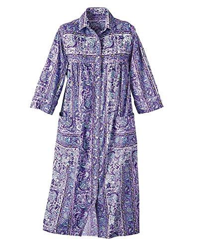 Swirl Terrific Models Coat, Lilac Floral, 10 - Lady Housecoat
