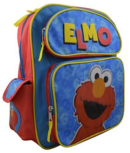 Sesame Street Toddler Elmo 14'' Deluxe Backpack with Multiple Pockets by Elmo (Image #1)