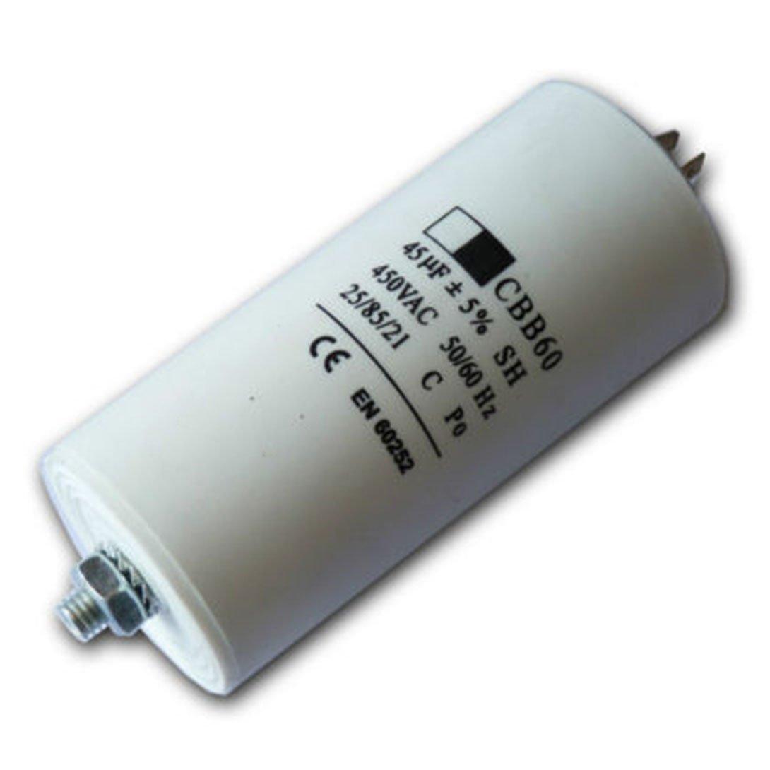 Condensateur First4spares Moteur Universel Microfarad 5UF à 80UF Connecteur Cosse/Etiquettes - 45 UF