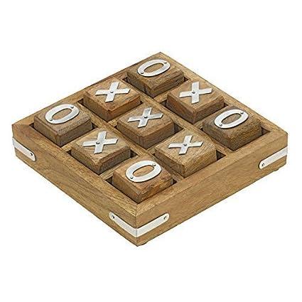 Amazoncom Shalinindia Handmade Wooden Tic Tac Toe Game For Kids 7