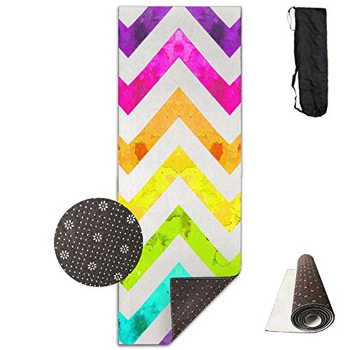 Colorful Chevron Deluxe,Yoga Mat Aerobic Exercise Pilates Anti-slip Gymnastics Mats