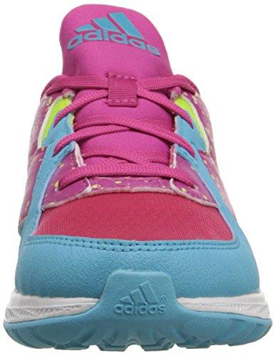 adidas Performance fuerza rebote K Zapatos (poco Kid/Big Kid) Rosa, amarillo, azul